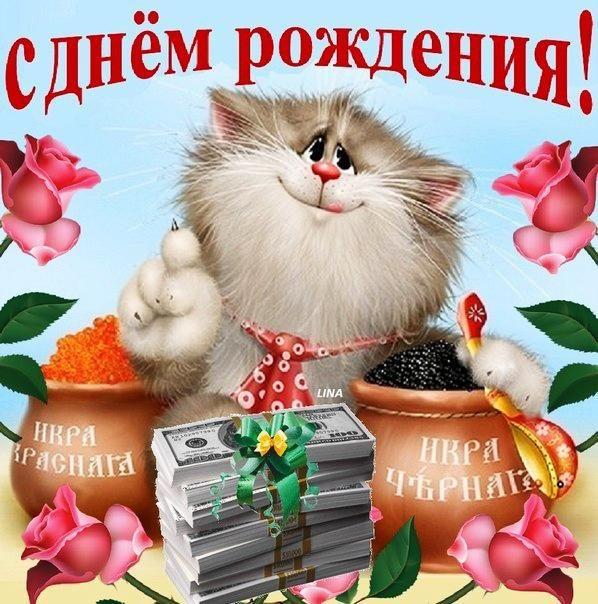 Открытки Прикольные открытки на день рождения Прикольная <em>открытки на день другу</em> открытка на день рождения Котик