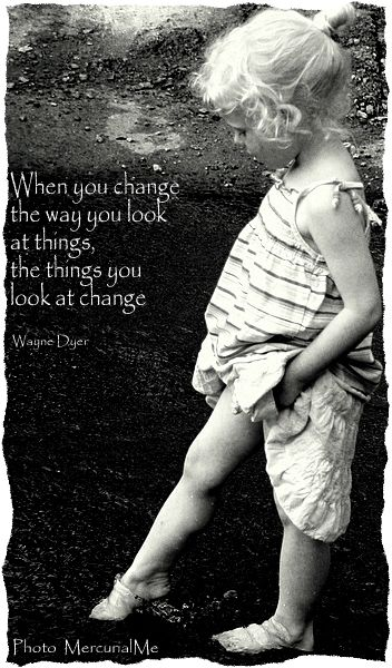 When you change the way you look at things,  the things you look at change.  ~~ Wayne Dyer