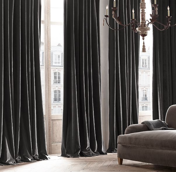 Vintage Velvet Drapery. Grey or black velvet curtains - Best 25+ Grey Velvet Curtains Ideas On Pinterest Velvet Drapes