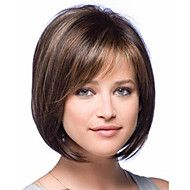 New arrival fashion bob style straight brown with highlights synthetic hair wig