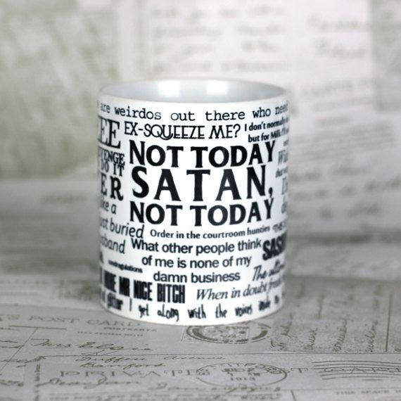 A gift for RuPaul Drag Race fans who will love this mug of the some of the best quotes from the show. More than 25 quotes are included from queens such as Adore Delano, Jinkx Monsoon,Alyssa Edwards, Bianca Del Rio and Alaska Thunderfuck. With season 9 coming soon you need this NOW!  A name can be added to run up the side of the design, why not personalise it as a gift or yourself? Just choose this as a variation and put the name in the notes to seller.  Unofficial fan created.  The mugs are…