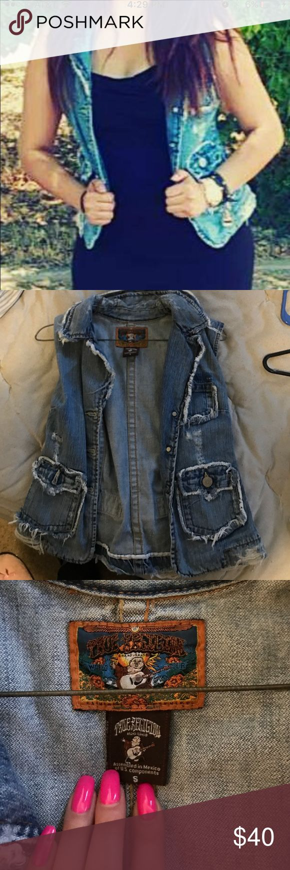 True religion jean jacket Short sleeve supper cute ! True Religion Jackets & Coats Jean Jackets