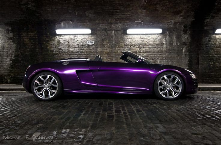 Audi R8 V10 Spyder Wred In Midnight Purple Color Thinking Of Redoing My Car Idk Still Like Glitter Lol B E A U Ti Full Pinterest