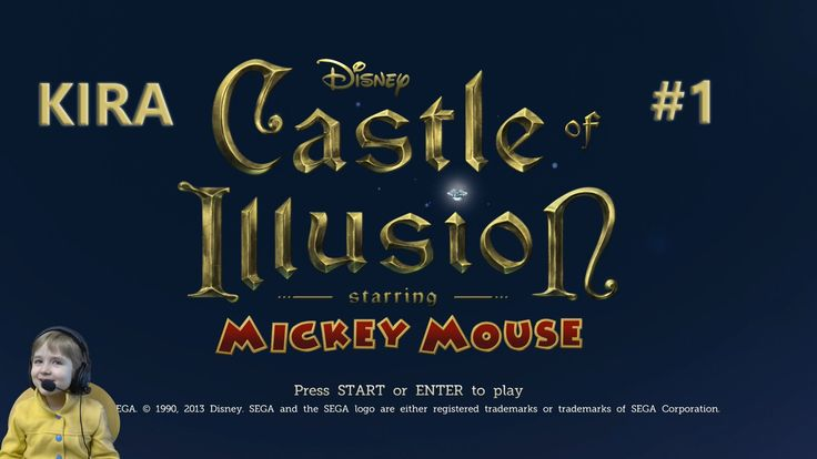 Кира играет Mickey Mouse Castle of illusion Kira plays Mickey Mouse Cast...