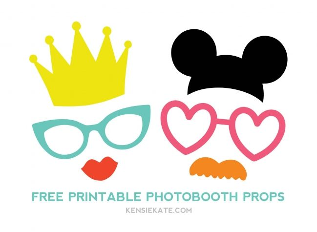 Free printable photo booth props from kensie kate available in PDF and SVG formats