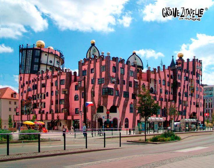 Grüne Zitadelle, Magdeburg, Germany.