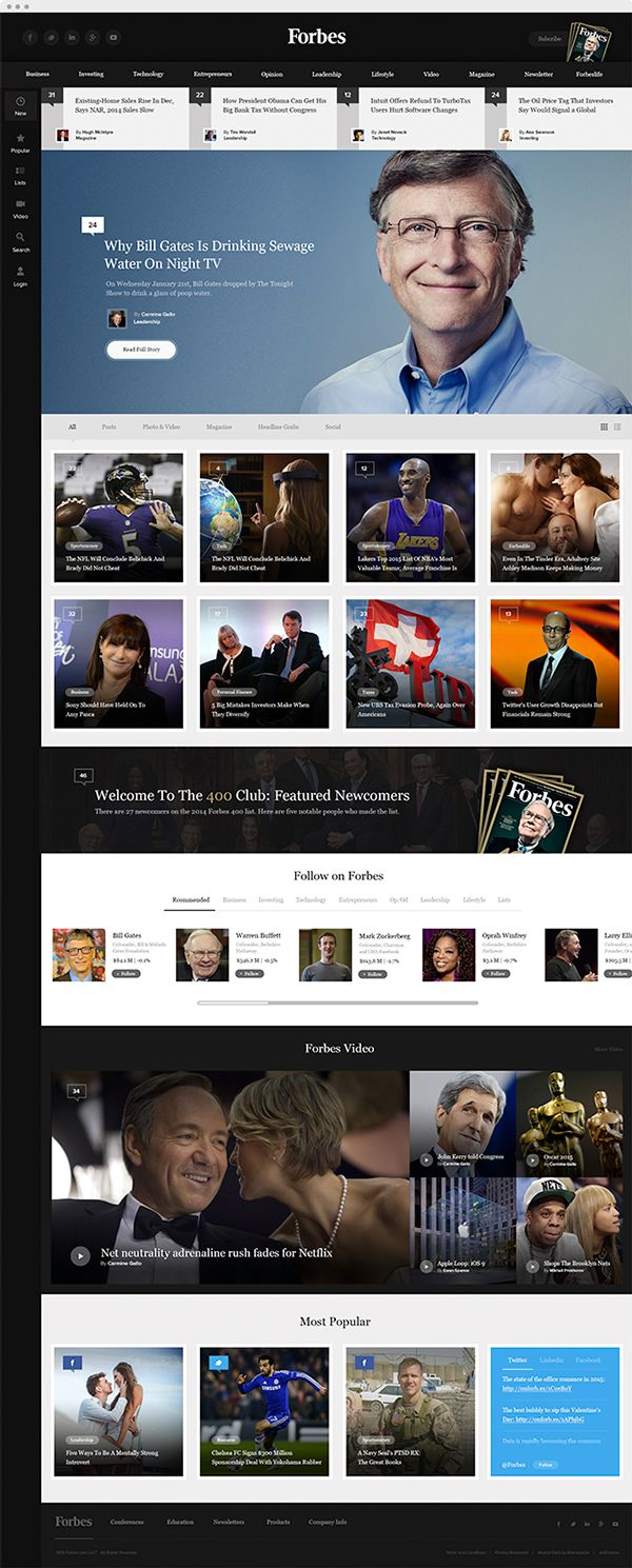 Forbes Concept redesign on Behance