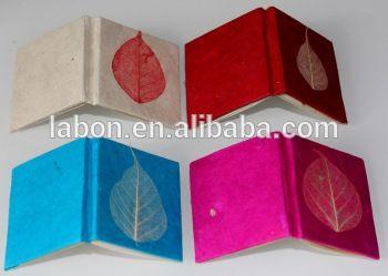 lokta papier recycle handgemaakte tijdschrift tie dye notebook voeding produceren