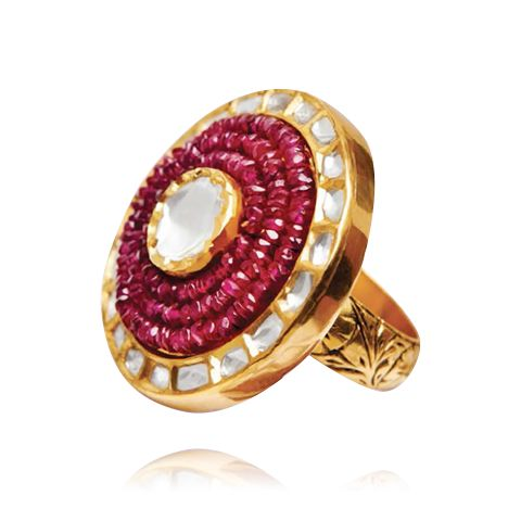 JEWELS OF THE RAJPUTANA Indian ruby diamond ring