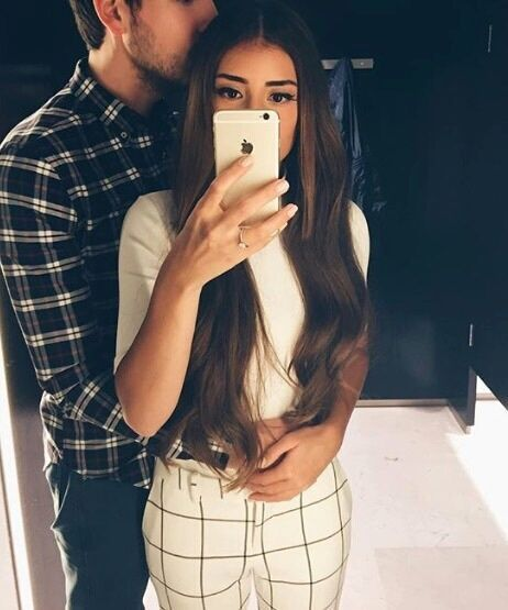 novios selfie