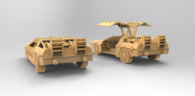 RO ELECTRONICA: SOLIDWORKS PROJECT - BACK TO THE FUTURE - DELOREAN...