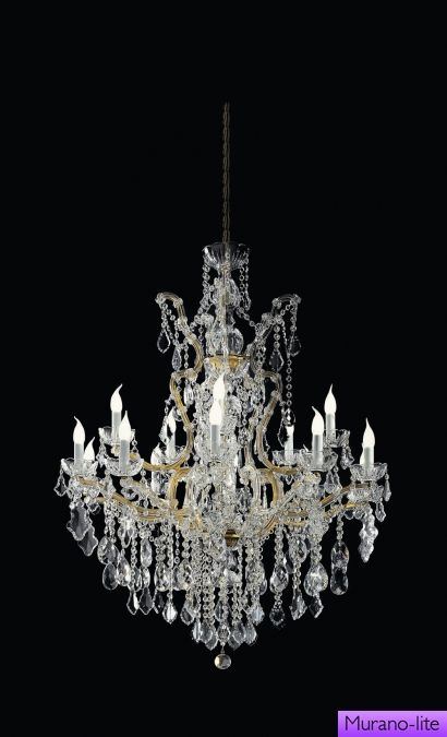 Claire / Chandelier / Classic Crystal Chandeliers / Murano-lite: 1000  luxurious chandeliers of
