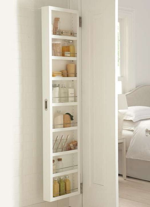 Gain space and eliminate clutter in your bath, pantry, or