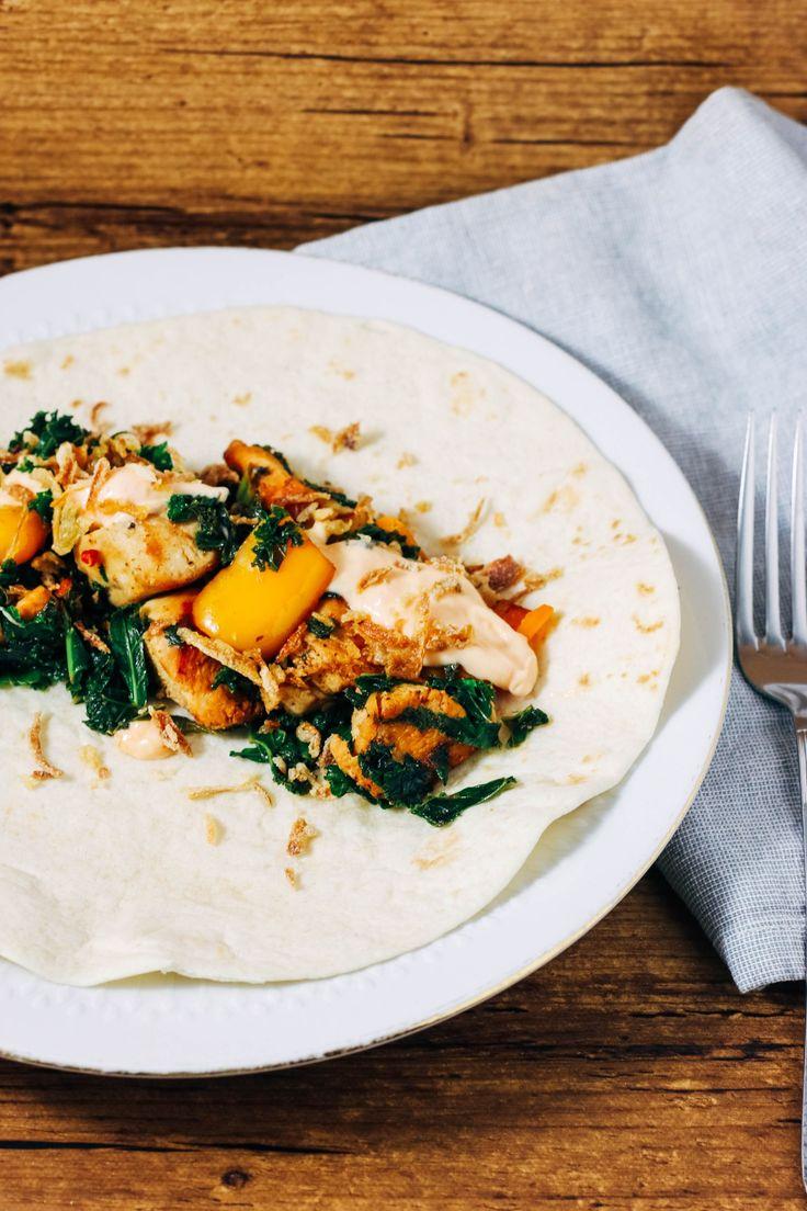 wraps met boerenkool #recept #healthy #fast #debsbakerykitchen #foodblog