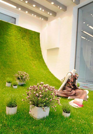 Sportmax's window with Bodum's Get Green installation.