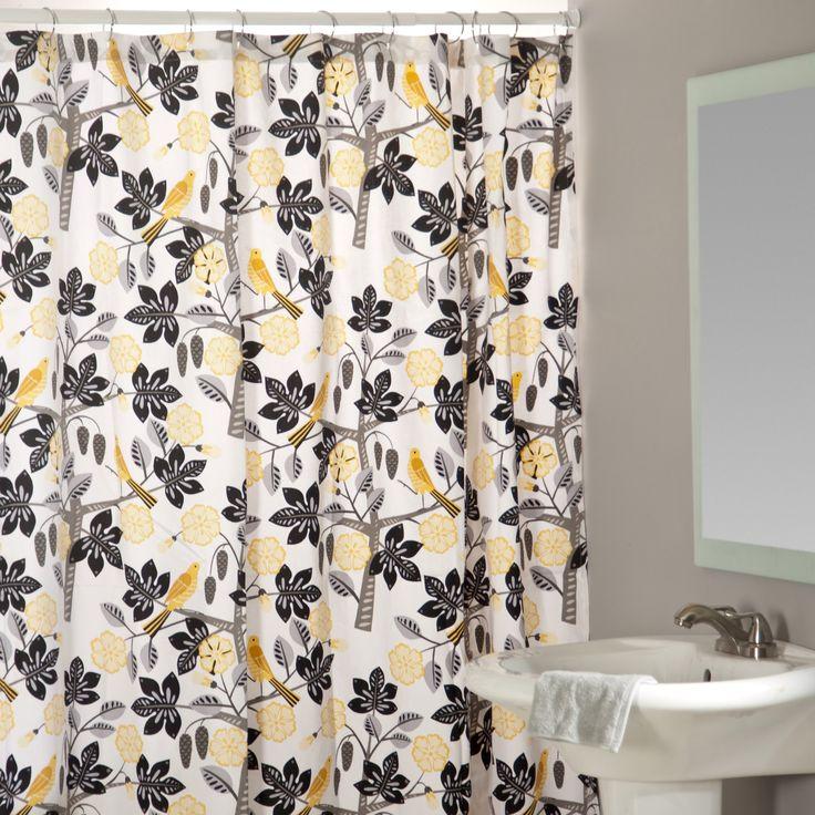 Small Talk Blackbird Shower Curtain   $102.98 @hayneedle.com