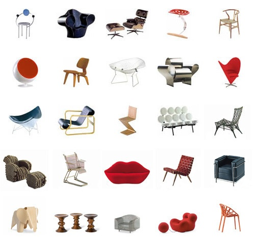 These are all miniatures of classic chairs. I want them all!