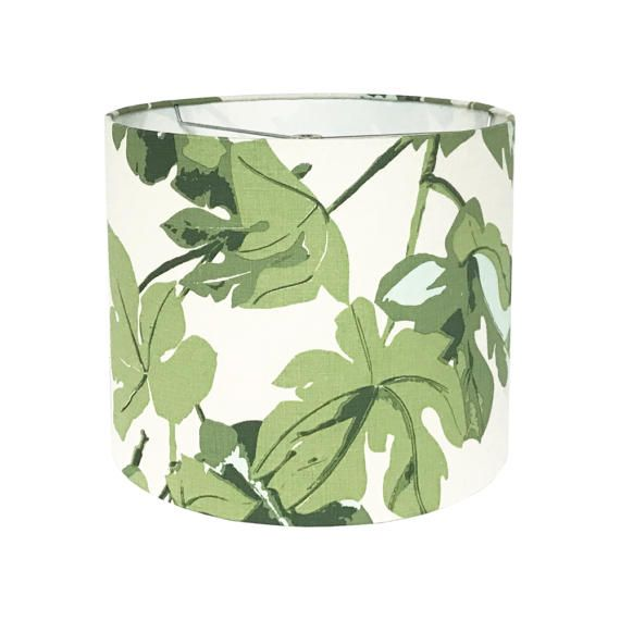 Green Lamp Shade Custom Lamp Shade Fig Leaf by Peter