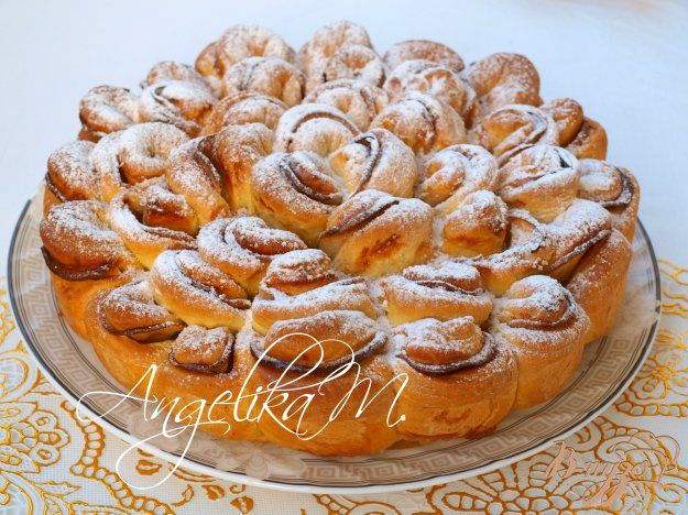 """Яблочный пирог """"Хризантема"""" - пошаговый рецепт с фото"""