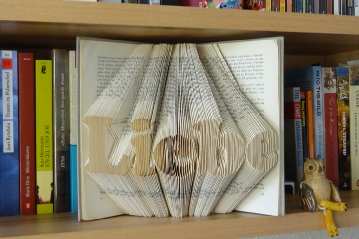 DIY-Anleitung gefaltetes Buch/ Orimoto mit Schriftzug