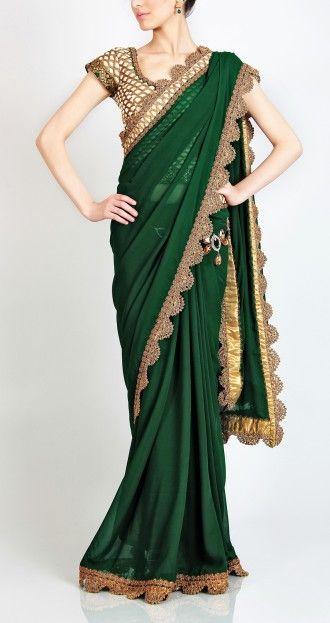Crochet border sari