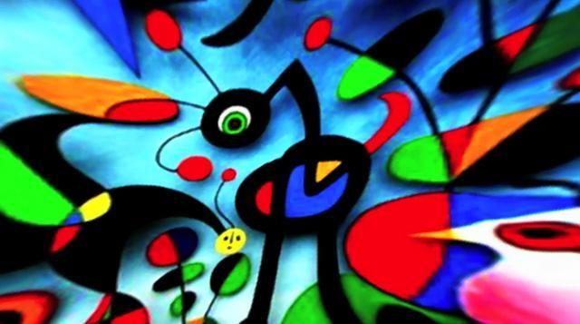 joan miró images | Joan Miro Paintings Reflected in Moon BIrd on Vimeo