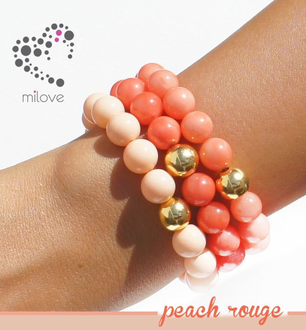 www.facebook.com/milovedesign bracelets with gold, pearls and jades (minerals) <3