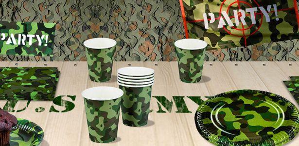 Anniversaire garçon camouflage, décoration d'anniversaire militaire sur Vegaooparty