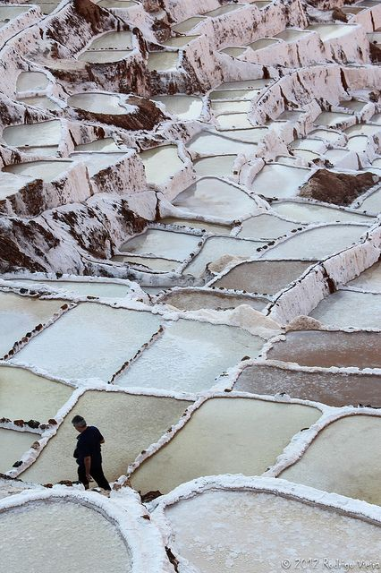 Salt beds in Peru//