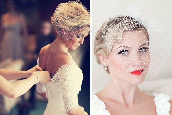 Velo de novia jaula de pájaro o birdcage #bodas #elblogdemariajose #velonovia