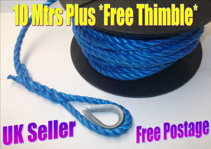 Blue Poly Rope Camping Marine Agriculture Boat Garden Clamp 10mm x 10 Metres