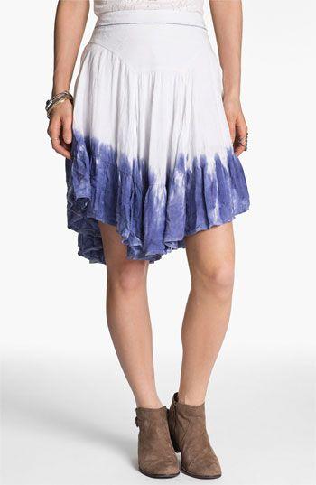 free people dip dye asymmetrical hem skirt nordstrom. Black Bedroom Furniture Sets. Home Design Ideas