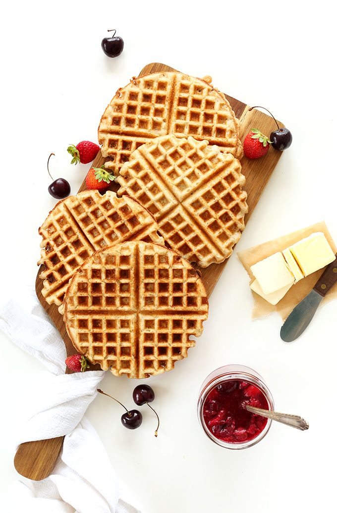 7 ingredient Vegan Gluten Free Waffles! One Bowl, perfectly crispy, customizable and SO delicious