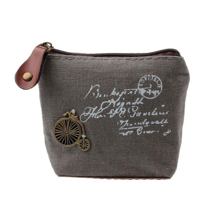 Sannysis® Retro ragazza sacchetto della moneta della borsa del raccoglitore della carta regalo caso Torre Eiffel Handbag (Grigio): Amazon.it: Valigeria