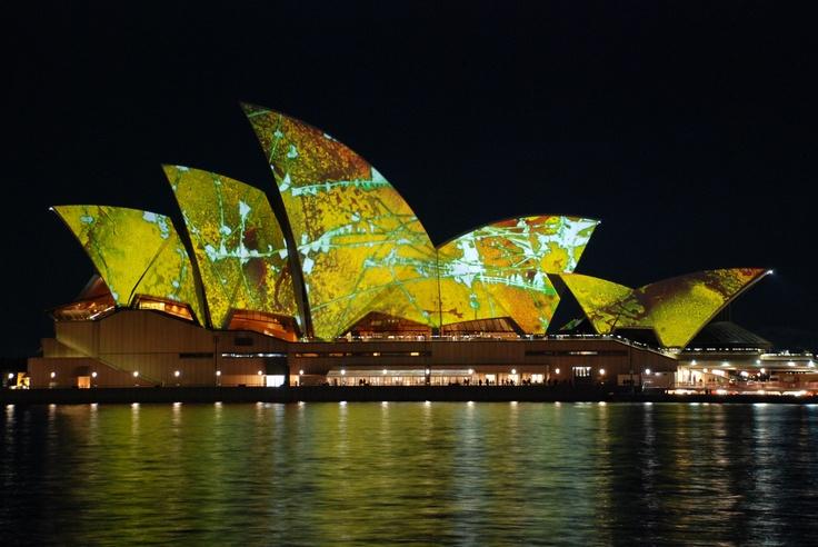Sydney Opera House in Australia, Vivid light show