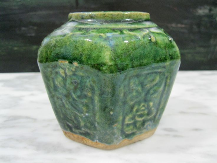 Details About Antique Chinese Ming Dynasty Green Glaze