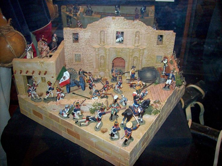 Alamo Diorama Gordon Neilson Remember The Alamo