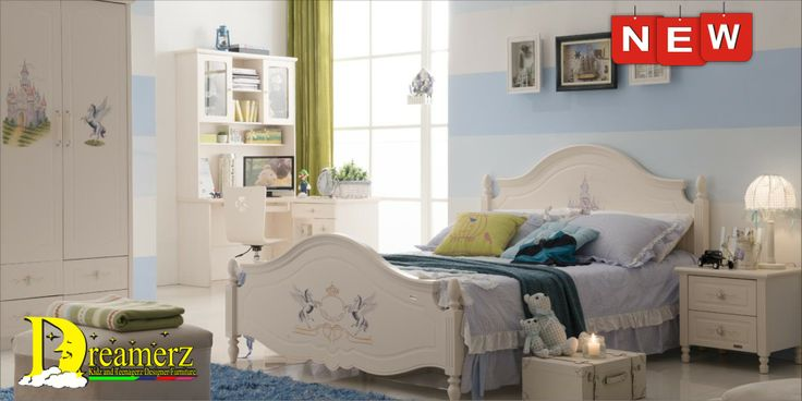 Jasmine Castle Hand Painted bedroom set *Genuine OAK