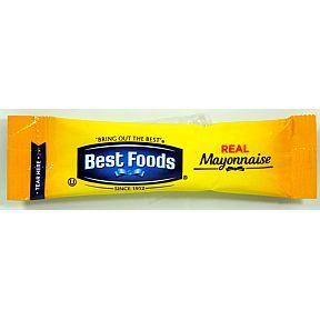 Best Foods Mayonnaise F01-0401000-1100 - 3/8 oz mayonnaise  packet, individual size.