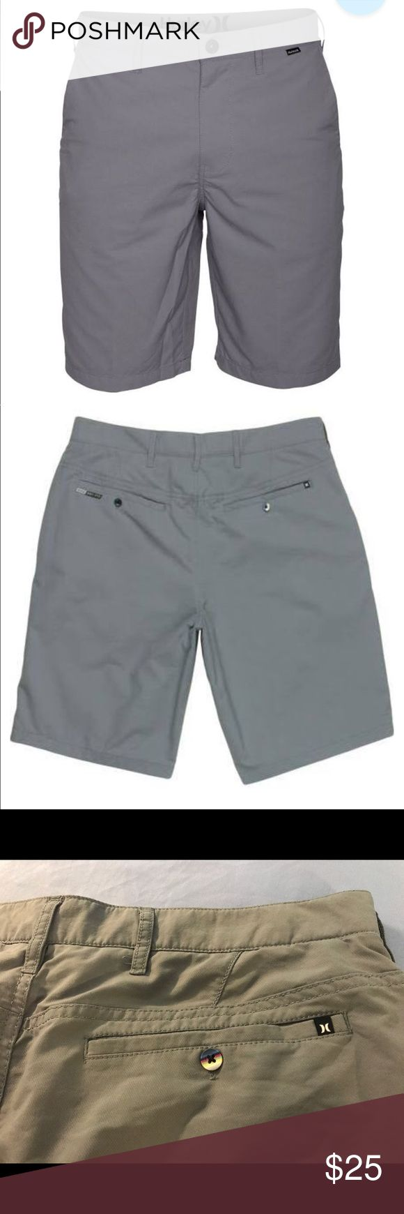Hurley Men's Dri-FIT Chino Shorts Hurley Men's Dri-FIT Chino Shorts, Size: 32 in great condition** Lighting may vary with coloring** Gray Shorts Hurley Shorts Hybrids