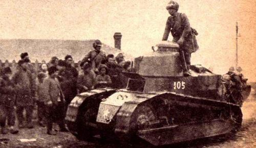 Japanese Renault tank in Manchuria after Mukden Incident September or October 1931