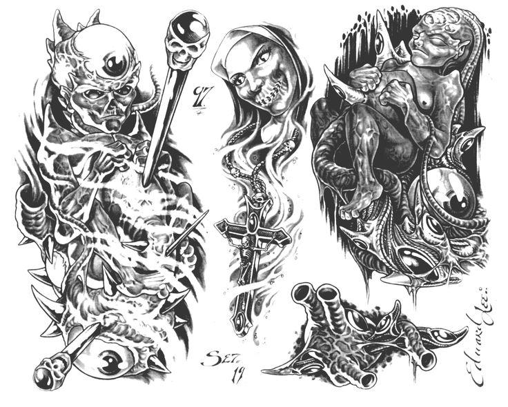 tattoo gangsta sketch - Google'da Ara