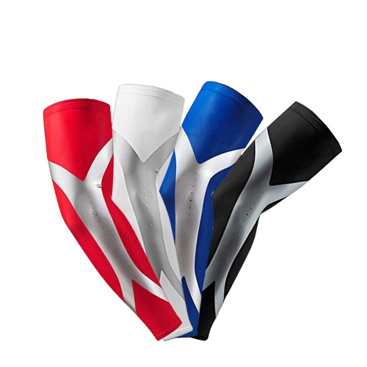 1 Pair Lycra Basketball Compression Arm Sleeves Non-slip Elastic Armband UV Protectors Sleeve Sport Safety Mangas Ciclismo