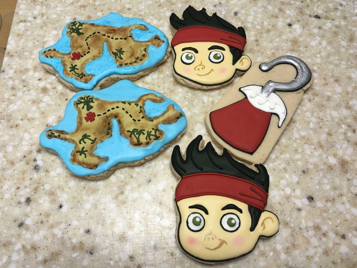 Jake and the Neverland pirates by Eiracookies on Etsy