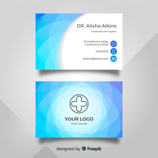 Download Medical Business Card Template With Modern Style For Free