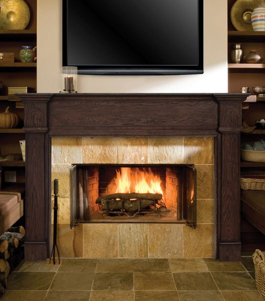 Pearl Mantels Avondale Fireplace Surround: 1000+ Images About Wood Fireplace Mantels On Pinterest