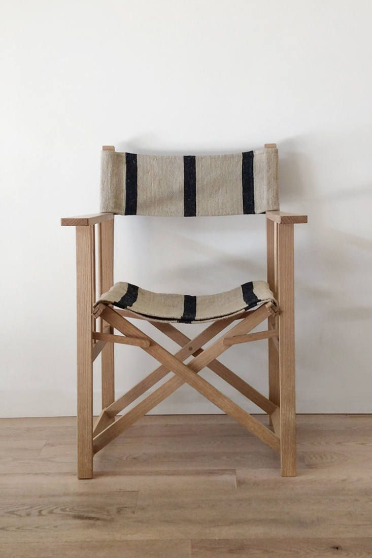 Object Of Desire Directors Chairs With Striped Vintage Grain Sack