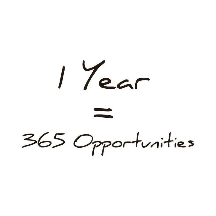 A New Year = 365 New Opportunities