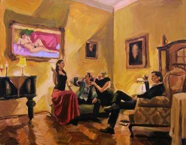 "Saatchi Art Artist Helena Janecic; Painting, ""City Gals 4"" #art"