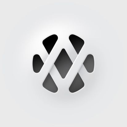 A little woven skeuomorphism no? Still this logo is effective at showing a woven texture with very little and a creation of implied letter forms. I don't actually know what this is for- but I see a W, a V, an A.